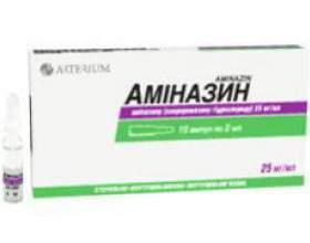 Інструкція аміназину, препарату, яка пригнічувала рефлекторну діяльність фото