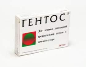 Таблетки гентос для лікування простати фото